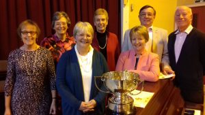 Laurette Evans with her Diamond Jubilee Trophy